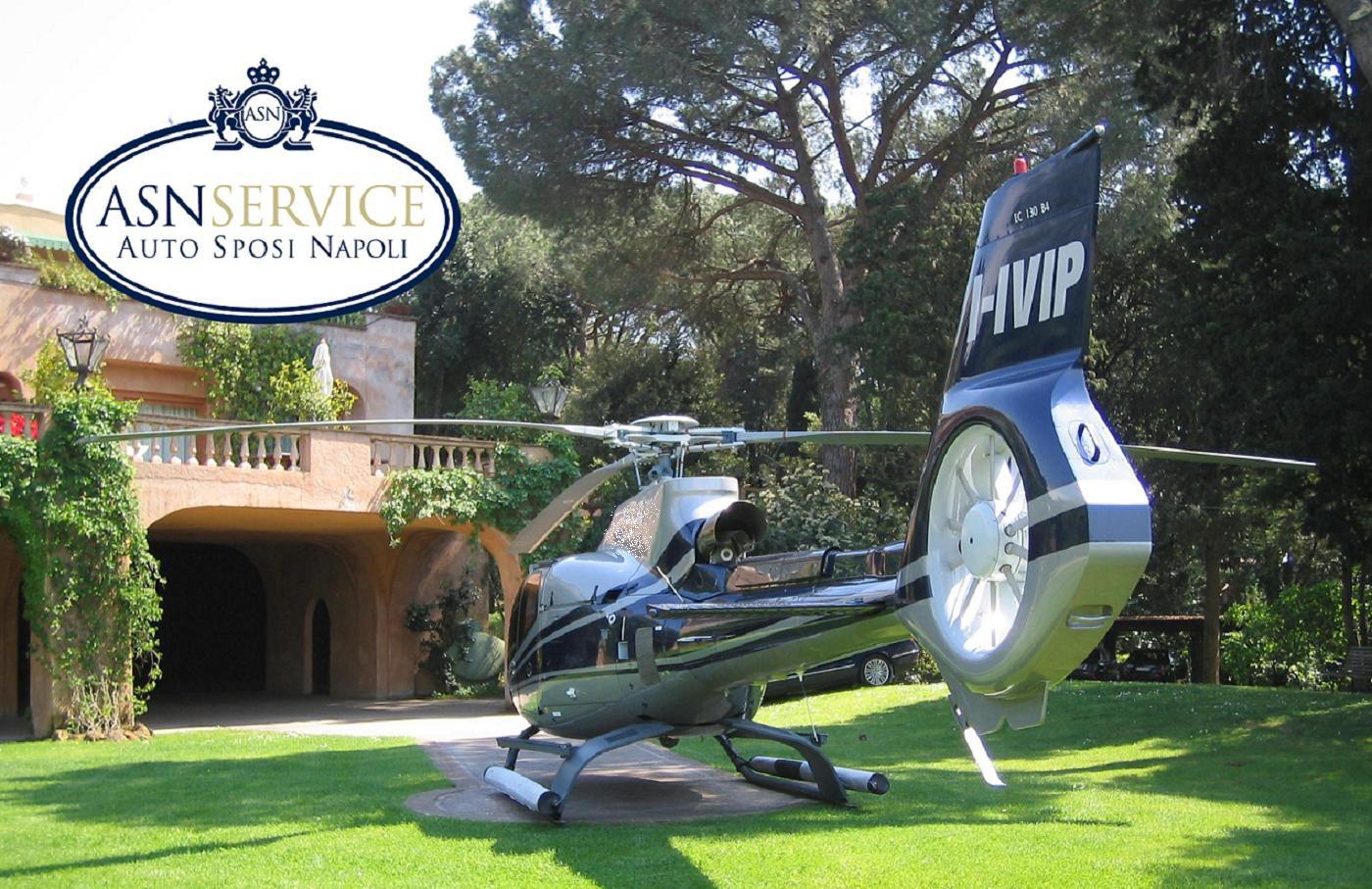 Elicottero Napoli : Asn service noleggio auto ed elicotteri per matrimoni e